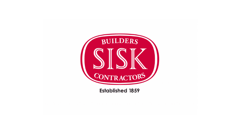 The logo of Sisk Builders Contractors, a client of PJ Personnel Recruitment Agency. We help them to find staff for construction jobs.